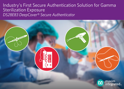 Maxim Integrated's DS28E83 is the industry's first radiation-tolerant secure authenticator designed to withstand harsh environments to protect medical device data.