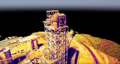 Structurally-detailed thermal 3D point cloud, created using 3DR Site Scan