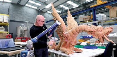 Bringing the dragons back to life required a unique combination of research and reverse engineering - scanning a wood-carved dragon with the FARO® Design ScanArm into 3D Systems' Geomagic® Design X reverse engineering software.