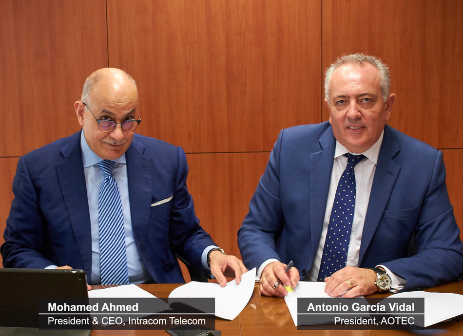 Spain's AOTEC and Intracom Telecom Sign a Strategic Agreement (PRNewsfoto/Intracom Telecom)