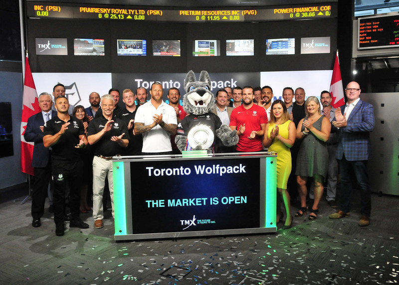 Toronto Wolfpack Opens the Market (CNW Group/TMX Group Limited)