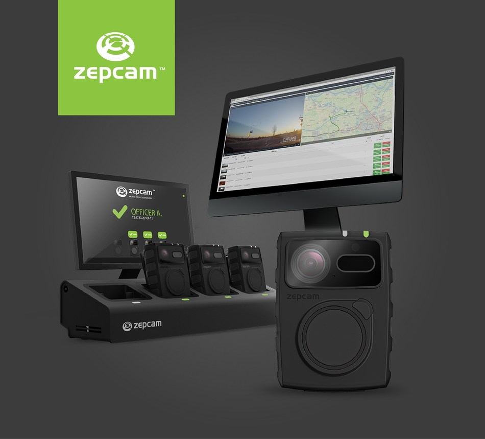 First nationwide bodycam deployment for safer public transportation in EU. On this photo: A Zepcam bodycam with 4 docks (PRNewsfoto/Zepcam)
