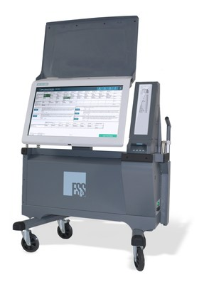 ES&S ExpressVote XL full-face Universal Voting System displays the full ballot on a 32-inch touch-operated interactive screen and produces a voter-verified paper ballot for tabulation.