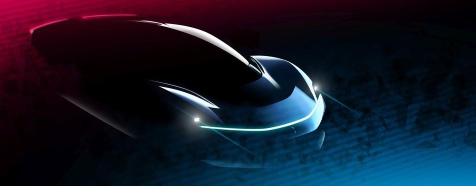 Automobili Pininfarina PF0 Design Intent Sketch 2 (PRNewsfoto/Automobili Pininfarina)