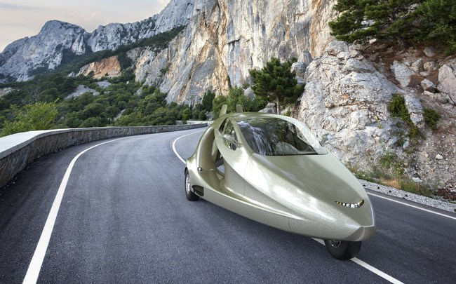The Switchblade Flying Sports Car travels at speeds of up to 125+ miles per hour on the ground and is expected to cost US$120,000 when it becomes available this year.