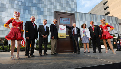 The Cordish Companies Chairman David Cordish, Maryland Lt. Governor Boyd Rutherford and guests celebrate the Grand Opening of the flagship luxury Live! Hotel, the first hotel in the world to carry the renowned Live! brand.