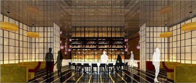 Bourbon N' Bubbles rendering of front bar.