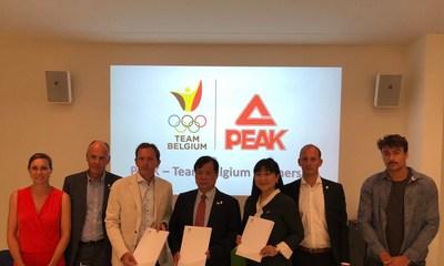A Peak Sport e o Comitê Olímpico Belga assinaram um contrato de cooperação estratégica em Bruxelas (PRNewsfoto/Peak Sport)
