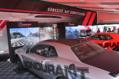 "Enter the ""Drag Strip Showdown"" by Driving Dodge Challenger SRT Demon Simulators at NHRA Races"