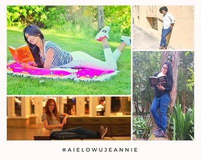 Collage of women wearing Aielowu Jeannie