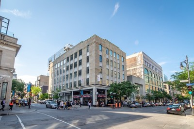 1327-1333 Saint-Catherine Street West and 1411 Crescent Street in Montréal (CNW Group/BTB Real Estate Investment Trust)