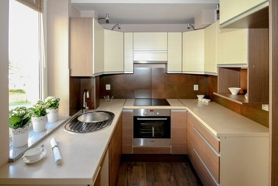 Finding a home with a kitchen that suits their personal style is a top priority for many homebuyers. Could you be happy with this small, efficient and self-contained kitchen, or would you definitely want a larger, open-plan arrangement?
