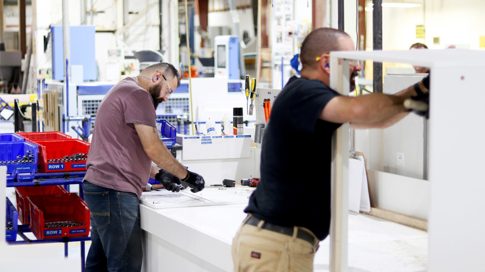 With significant room to grow, Superior Cabinets produces over 85,000 cabinets per year out of their Manufacturing facility located in Saskatoon, Saskatchewan, Canada. (CNW Group/Superior Cabinets)