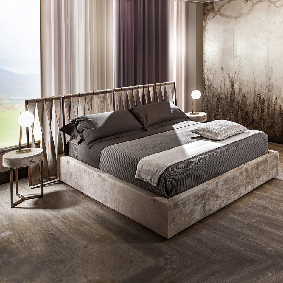 High end exclusive leather bed by Juliettes Interiors (PRNewsfoto/Juliettes Interiors)