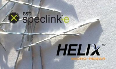 Specify Helix Micro-Rebar in BSD SpecLink-E