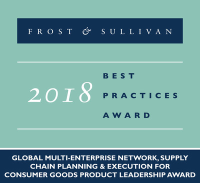 Frost & Sullivan recognizes E2open with 2018 Global Product Leadership Award.