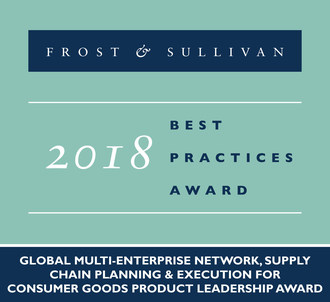 Frost & Sullivan recognizes E2open with 2018 Global Product Leadership Award. (PRNewsfoto/Frost & Sullivan)