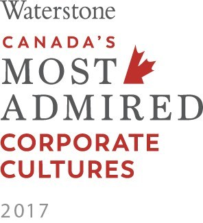 Waterstone Canada's Most Admired Corporate Cultures 2017 (CNW Group/Travel Alberta)