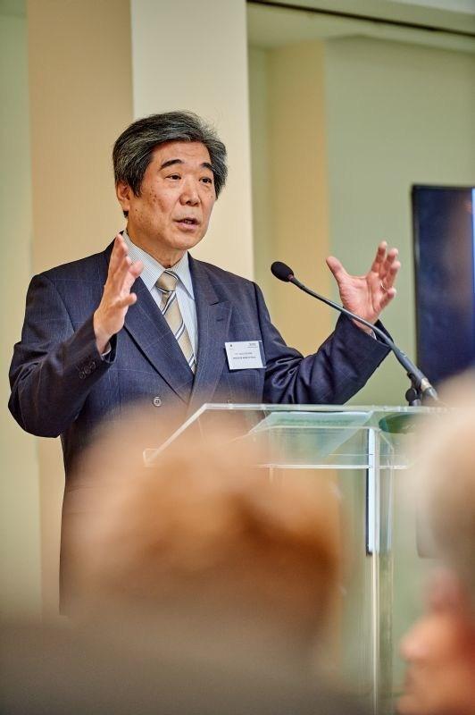 H.E. Ambassador of Japan to the EU Kazuo Kodama delivers keynote address (PRNewsfoto/The Government of Japan)