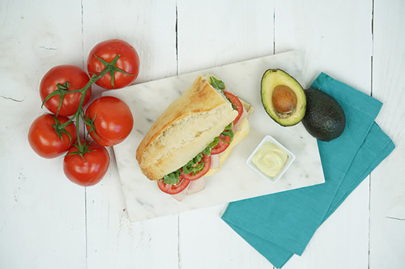 Turkey Artichoke Baguette is part of Alaska Airlines' new main cabin menu that launched today and features fresh, local ingredients and will rotate quarterly.