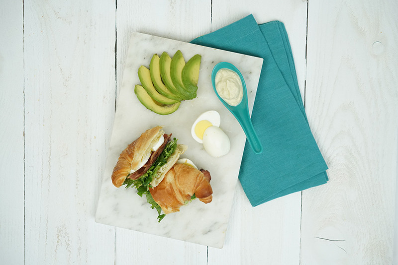 Croissant Sandwich is part of Alaska Airlines' new seasonally-inspired main cabin menu that launched today and features fresh, local ingredients.