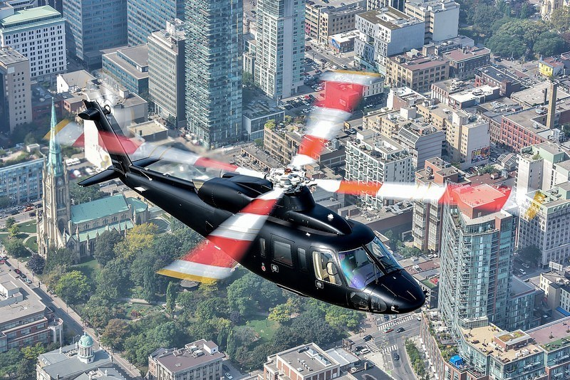 A Sikorsky S-76D™ executive transport helicopter has a range of 400 nautical miles and is fully customizable. Photo credit: Sikorsky