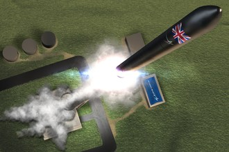 Notional image of the UK's first commercial spaceport at the Sutherland Site in Melness, Scotland, which will conduct the UK's first vertical, orbital rocket launch in the early 2020s.