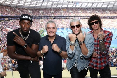 Usain Bolt, Ricardo Guadalupe, DJ Snake and Julian Peretta at the FIFA World Cup