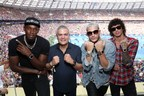 Usain Bolt, Ricardo Guadalupe, DJ Snake and Julian Peretta at the FIFA World Cup (PRNewsfoto/Hublot)