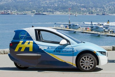 Electra Meccanica Announces Carshare Partnership with Harbour Air at Vancouver Harbour Flight Centre (CNW Group/Electra Meccanica Vehicles Corp.)
