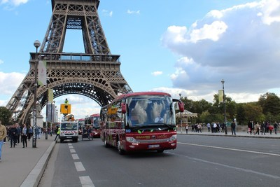 Autobús de nueva energía de Yutong en París (PRNewsfoto/Yutong Bus)
