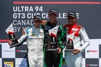 Zacharie Robichon once again led a flawless race from start to finish, while Remo Ruscitti crossed the line second, and series rookie Michael Di Meo in the final podium position. (CNW Group/Porsche Cars Canada)
