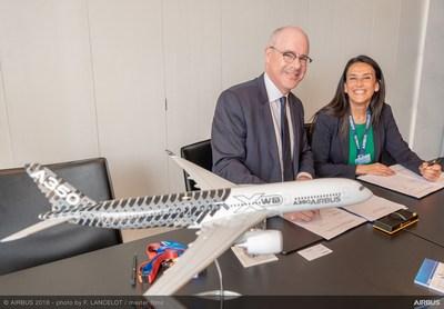 Le Conseil national de recherches du Canada (CNRC) et Airbus ont renouvelé leur entente-cadre de coopération scientifique et technique. De gauche à droite : Iain Stewart, Président du CNRC et Grazia Vittadini, Directrice de la technologie à Airbus. (Groupe CNW/Conseil national de recherches Canada)