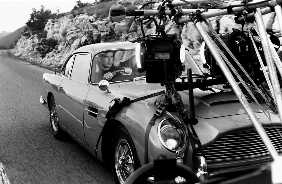 SPYSCAPE, the edutainment company focused on the world of secret intelligence, purchased James Bond's storied Aston Martin DB5, driven by Pierce Brosnan in GoldenEye, for £2 million ($2.6 million), to allow Bond fans to get behind the wheel. This is the exact car that was the star of an epic race in the hills above Monaco against villain Xenia Onatopp, played by Famke Janssen. James Bond fans can sign up online at www.spyscape.com/db5 for more information. AF archive / Alamy Stock Photo