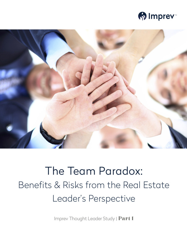 The Imprev Thought Leader Study surveyed brokerage leaders representing firms of all sizes across the U.S. A copy of a summary of the study findings is available online at http://www.imprev.com/team-paradox-study.