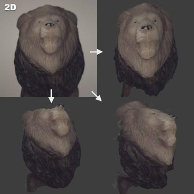 La technologie DepthIQMC d'AIRY3D peut générer des images 3D à partir d'une seule image prise au moyen d'un capteur unique (nuage de point montré comme une image 2D). (Groupe CNW/AIRY3D)