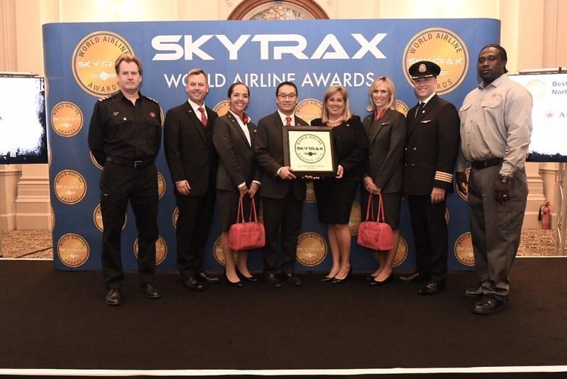 Air Canada nommée meilleur transporteur aérien en Amérique du Nord lors des World Airline Awards 2018 de Skytrax (Groupe CNW/Air Canada)