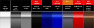 2019 Acura MDX colors