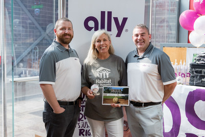 Ally Financial donated more than $22,000 to Habitat for Humanity as part of Ally Home's Home Run Slugfest to promote its Baseball- themed Mortgage Playbook.