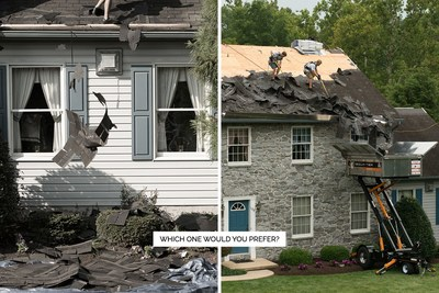 New Roof No Mess vs old process.