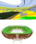 Prédictions en 3D avec iBwave – stade Loujniki de Moscou (Groupe CNW/iBwave Solutions)