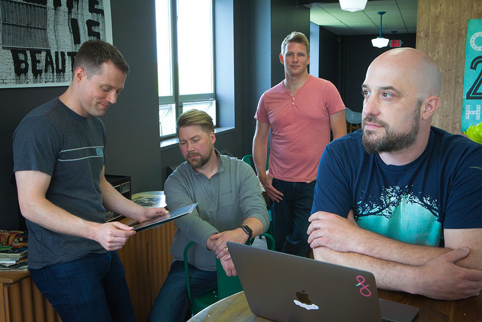 Fluency founders Brian McVey, Eric Mayhew, Scott Gale and Mike Lane