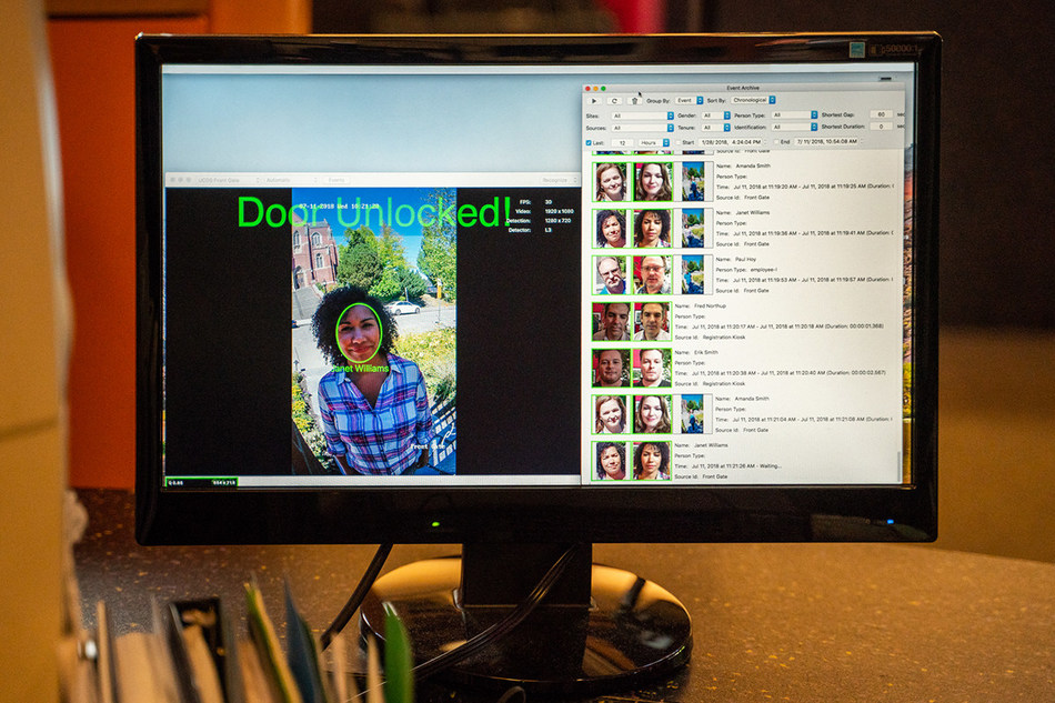 SAFR™ from RealNetworks encrypts all facial data and images to ensure privacy. (PRNewsfoto/RealNetworks, Inc.)