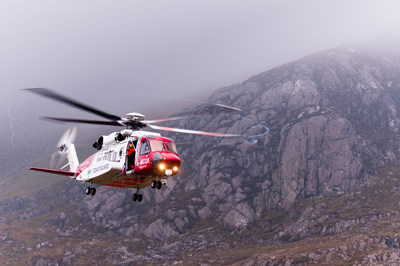 Today Sikorsky celebrated the UK Maritime & Coastguard Agency for a June 2018 life-saving achievement in Inverness with a Sikorsky S-92® helicopter Photo credit: Mike Gibson