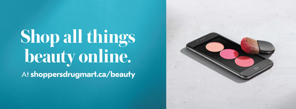 Shop all things beauty online. At shoppersdrugmart.ca/beauty (CNW Group/Shoppers Drug Mart Corporation)