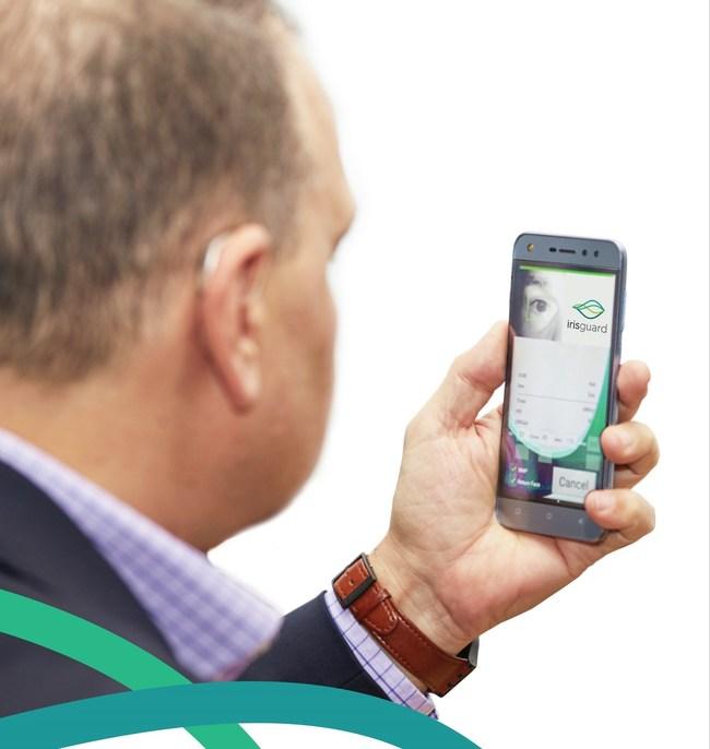 IrisGuard's new EyePay® Phone in use