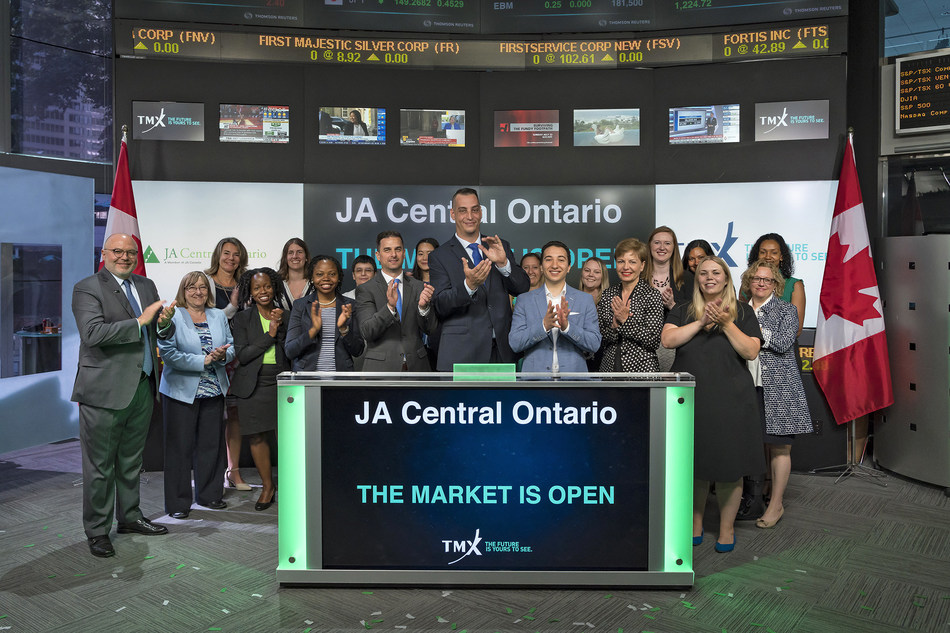 JA Central Ontario Opens the Market (CNW Group/TMX Group Limited)