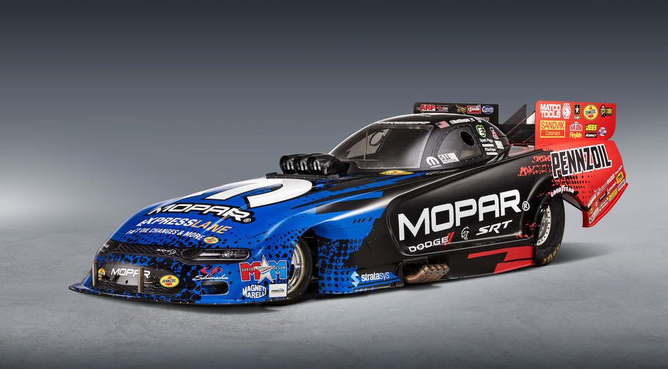 The new 2019 Mopar Dodge Charger SRT Hellcat NHRA Funny Car body will make its competition debut this weekend at the Dodge Mile-High NHRA Nationals Powered by Mopar at Bandimere Speedway near Denver, July 20-22, 2018.
