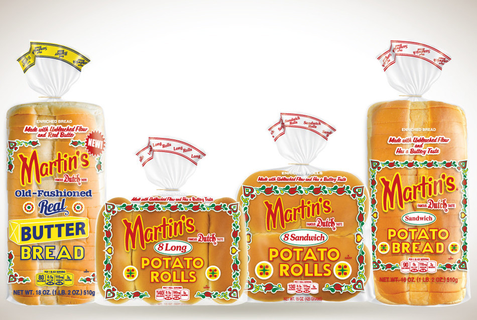 Martin's Famous Pastry Shoppe, Inc.®, has the highest bread and roll sales in the New York metropolitan market.  According to 52-week IRI sales data ending June 17, 2018, Martin's Sandwich Potato Rolls, Martin's Long Potato Rolls, and Martin's Potato Bread hold the first, second, and third place, respectively, for highest dollar sales in the entire fresh bread and roll category.