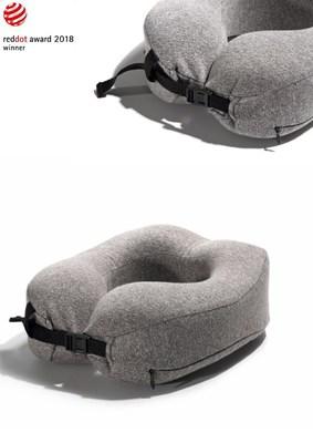 The portable U-shape pillow won the Red Dot Design Award